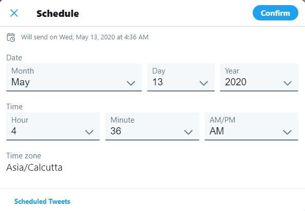 tweet atmak zaman ayarlı